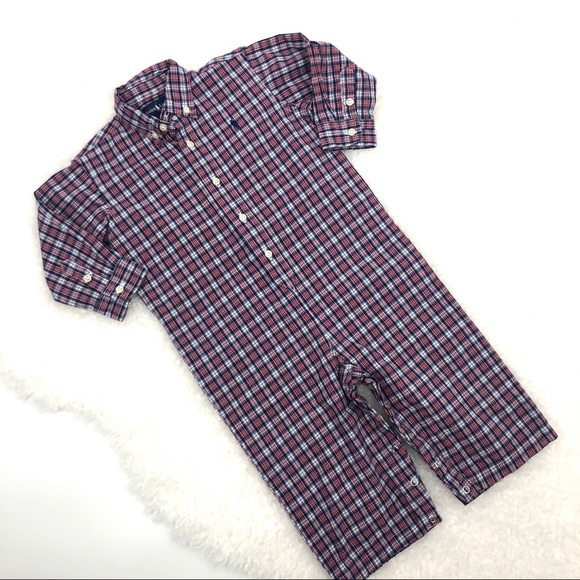 Polo by Ralph Lauren Other - Polo Ralph Lauren Boy's LS Shirting Coveralls 24M